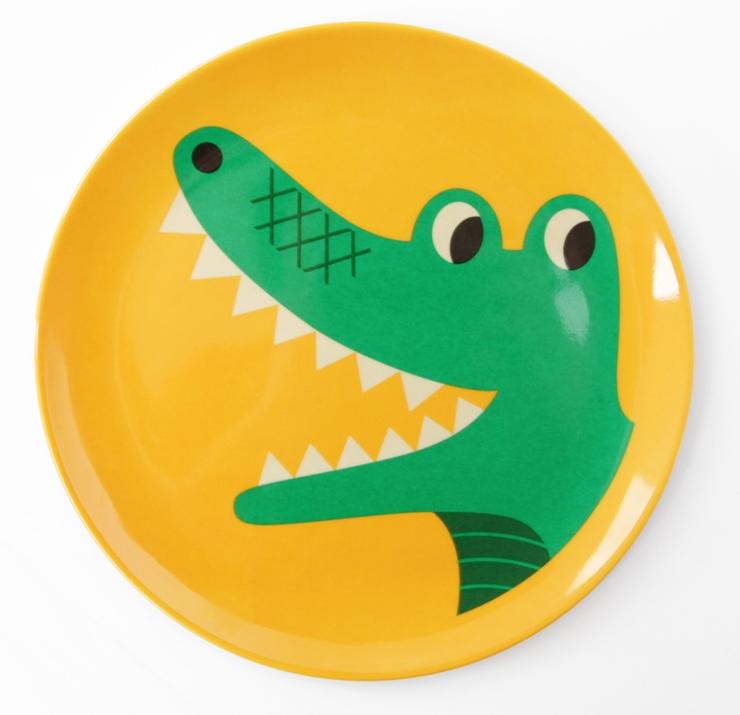 Plate Crocodile