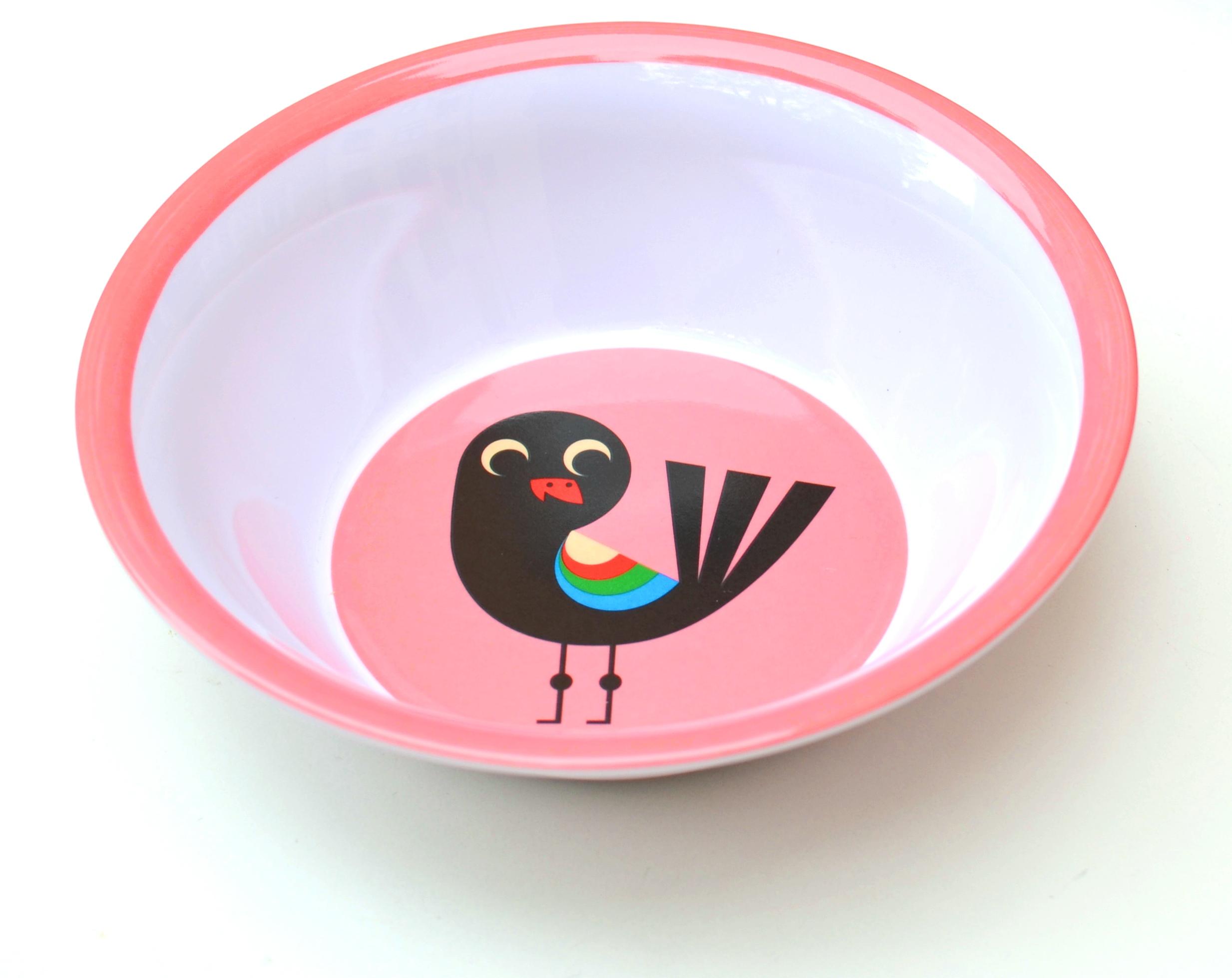 Bowl Bird pink