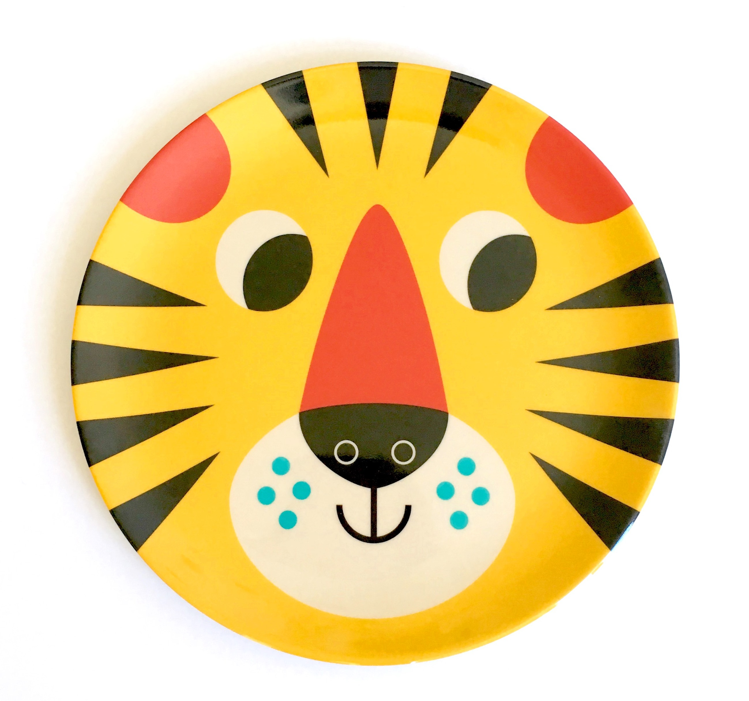 Plate Tiger Face