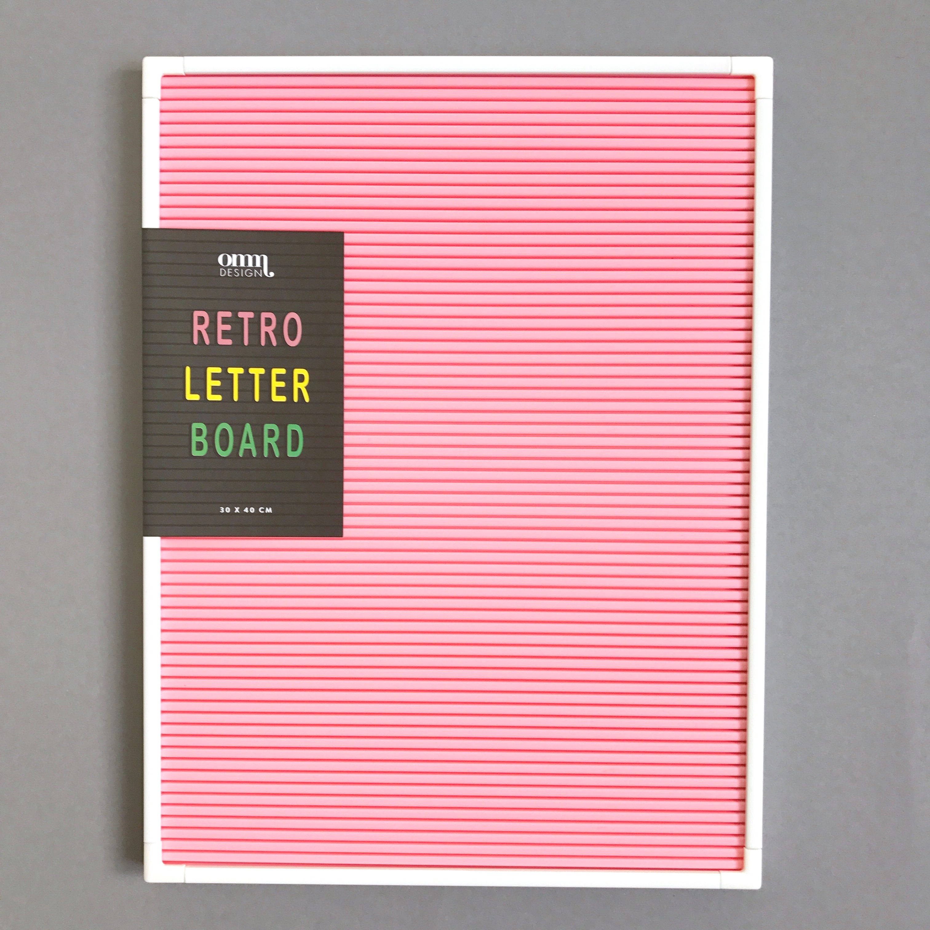 Letter Board Pink /White