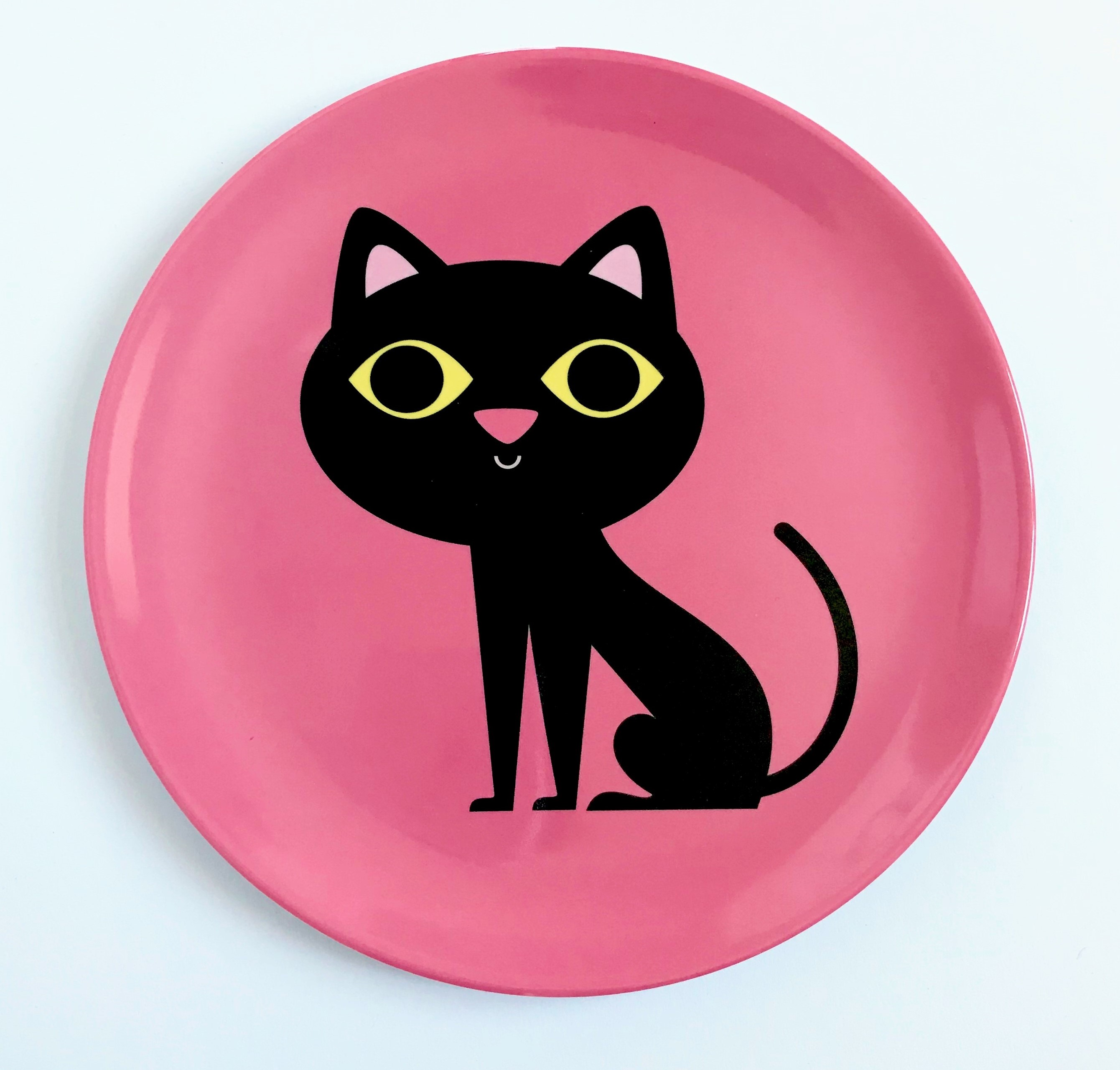 Plate Cat Pink