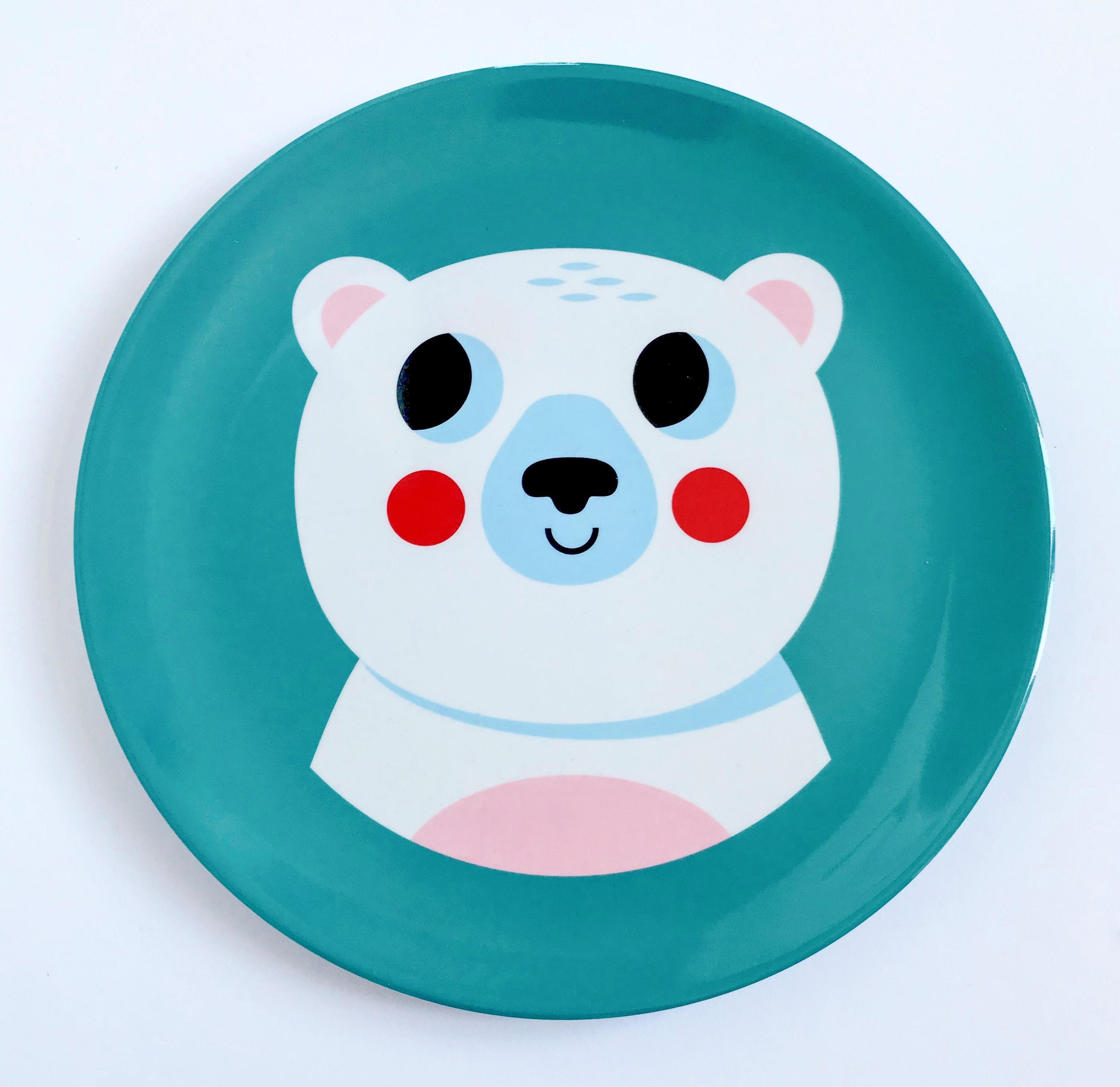 Plate Polar Bear