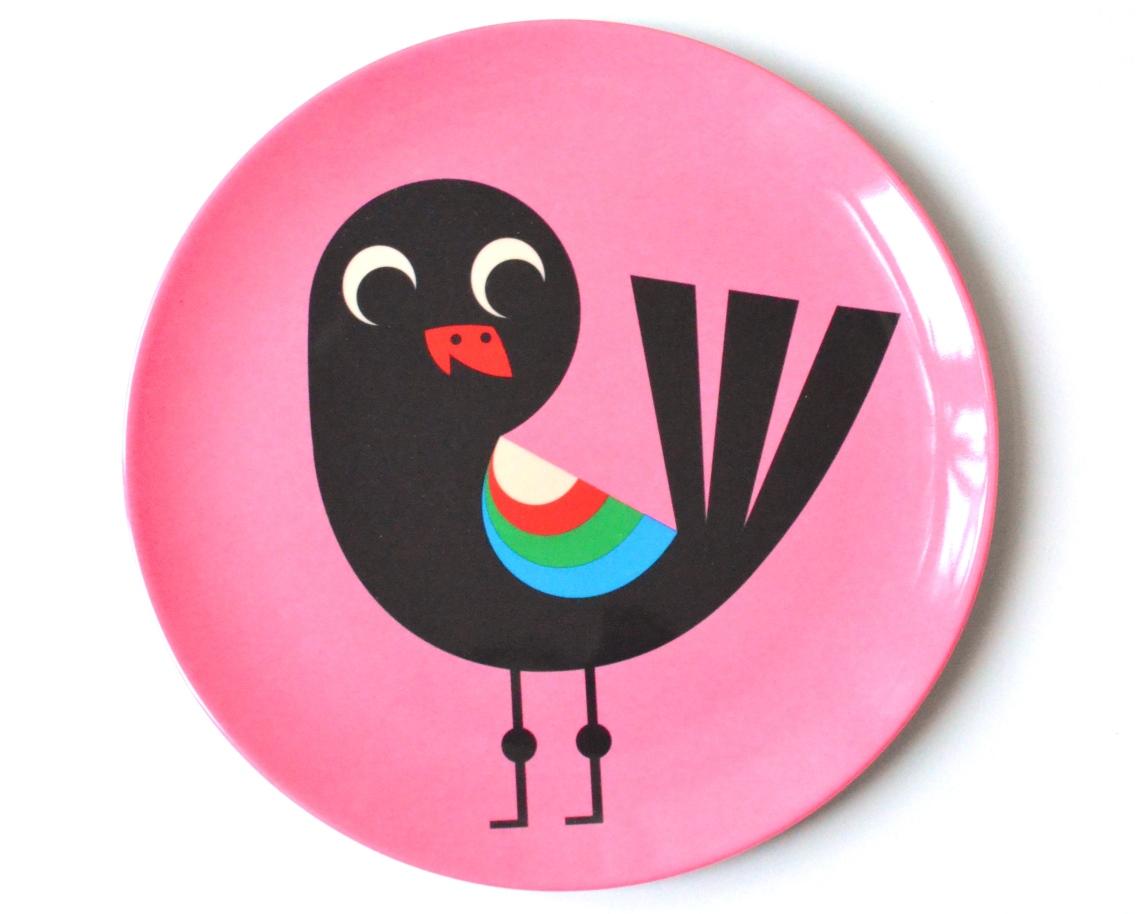 Plate Bird pink
