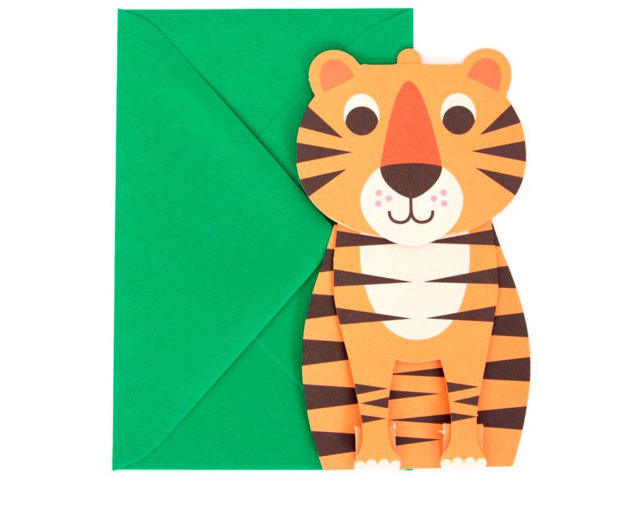 Tiger 3D Card