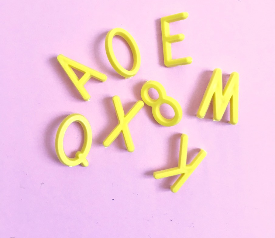 Letters Yellow
