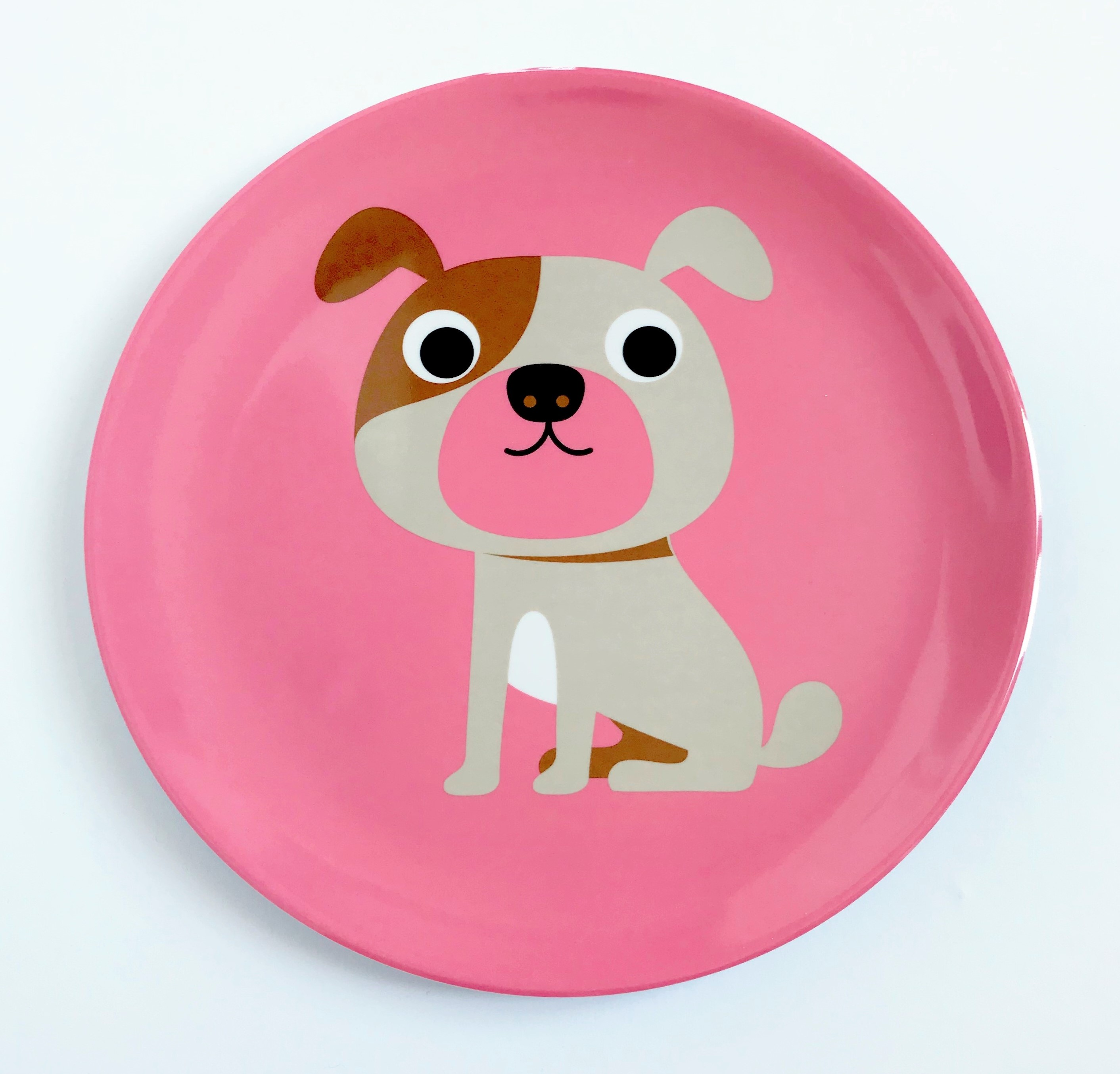 Plate Dog Pink