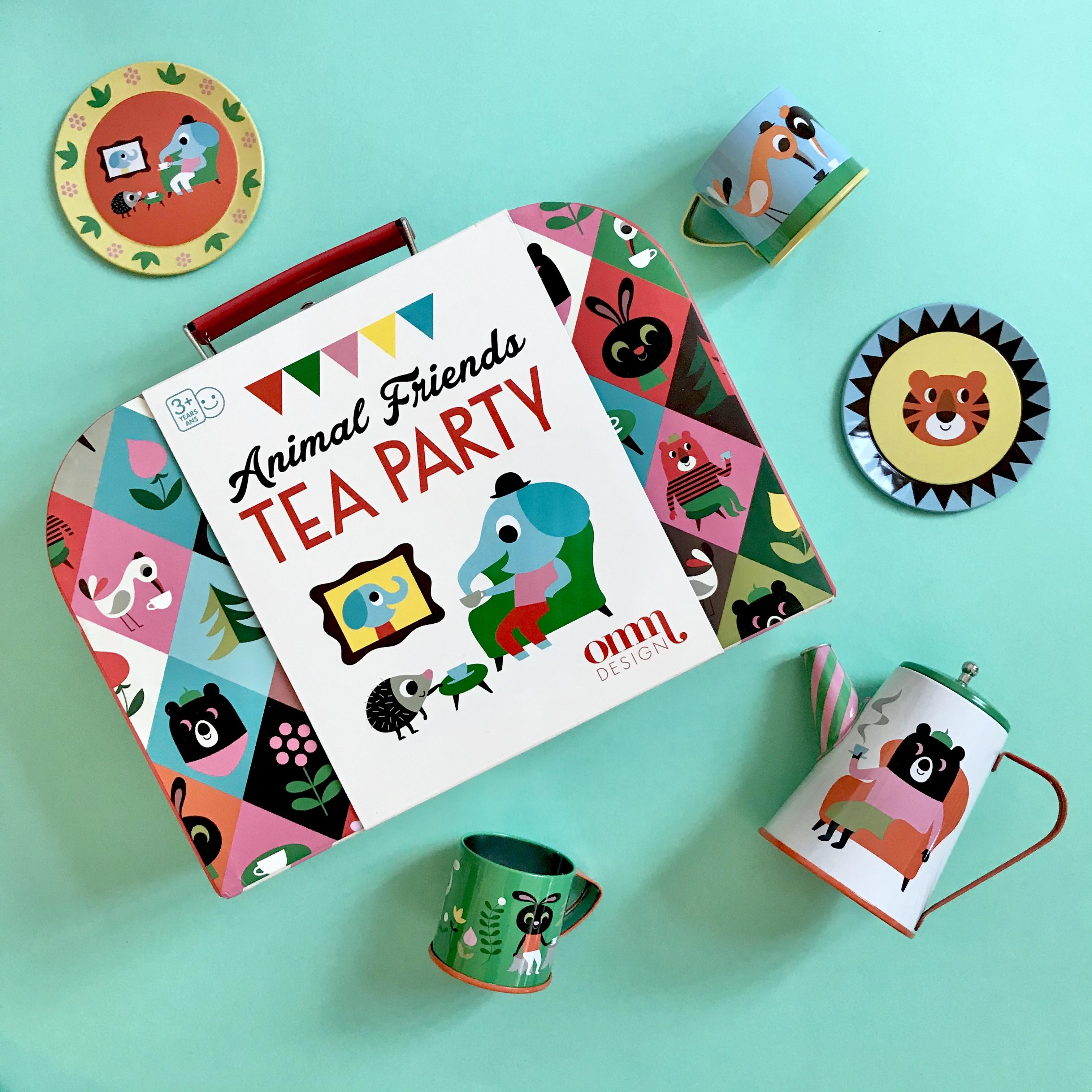 Animal Tin Tea Set